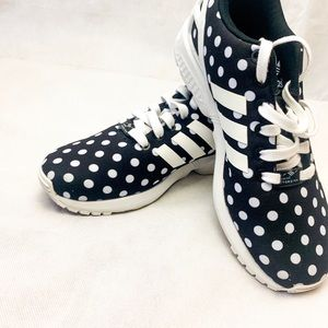 Adidas ZX Flux Black Polka Dots Women 7